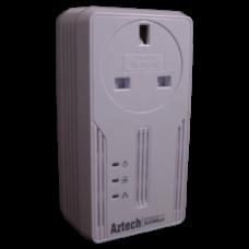 Aztech 500AV Gigabit HomePlug Adapter with mains passthrough PL-HL115EP