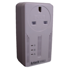 Aztech Value 500AV HomePlug Adapter with mains passthrough PL-HL117EP