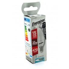 12 x Energizer LED 40w (5.2w) Daylight White E14 SES Small Screw Candle Bulb