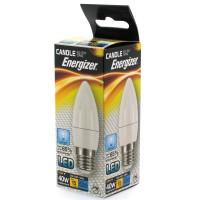 Energizer LED 40w (5.9w) Daylight White Light E27 ES Screw Candle Bulb