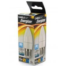 12 x Energizer LED 40w (5.9w) Daylight White Light E27 ES Screw Candle Bulb