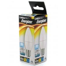 12 x Energizer LED 40w (5.9w) Daylight White B15 SBC Small Bayonet Candle Bulb
