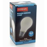 Eveready 40w Pearl BC Bayonet GLS Light Bulb S5793 Warm White