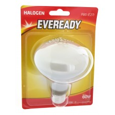 10 x Eveready R80 Eco Halogen Energy Saver 46w (60w) Dimmable Reflector Spot Bulb