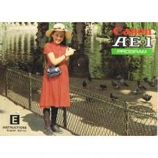 Canon AE1 Program - Used Instruction Manual (Girl)
