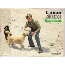 Canon AE1 Program - Used Instruction Manual (Boy)