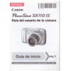 Canon Powershot SX110 IS Guia del usuario de la camara - SPANISH User Manual (NEW)