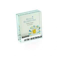 Crystal Celebrations Photo Frame 5 x 5.2cm - Happy 18th Birthday