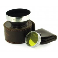 Actina 30 Lens Hood with Yellow Filter and Leather Cases