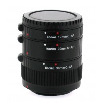 Kooka KK-C68P set of Extension Tubes for Canon EOS EF and EF-S Lens Mount